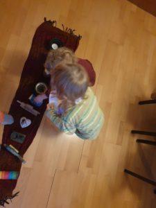 Meine Kinder spielen mit